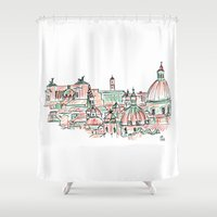 rome Shower Curtains featuring Rome by Ursula Rodgers