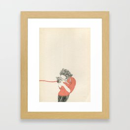 Shoot! in red Framed Art Print