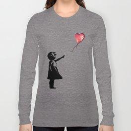 Banksy cosmic balloon Long Sleeve T-shirt