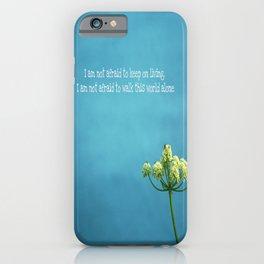"""""""Famous Last Words"""" iPhone Case"""