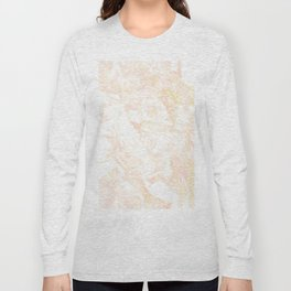 White Marble Pastel Pink and Gold by Nature Magick Long Sleeve T-shirt