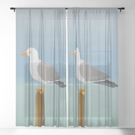 Seagull Sheer Curtain