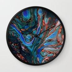 Marbled Darkness Wall Clock