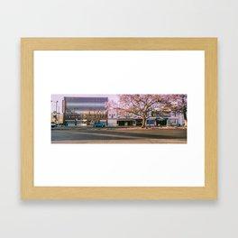 Wilshire Jacarandas Framed Art Print