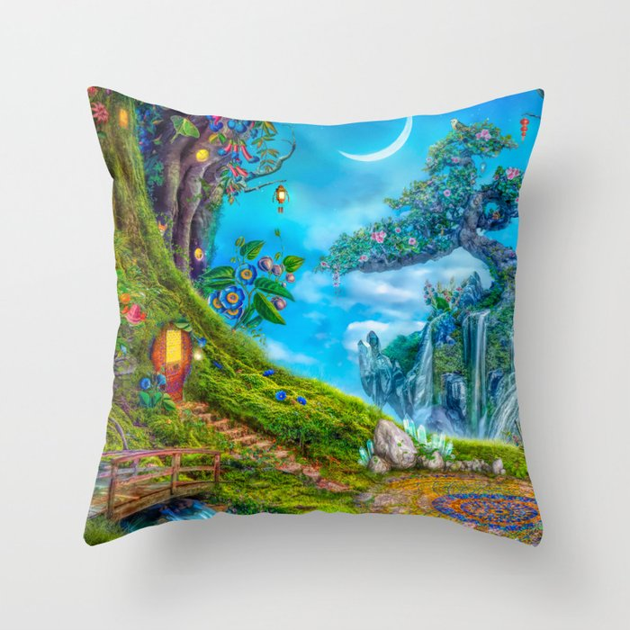 Day Moon Haven Throw Pillow