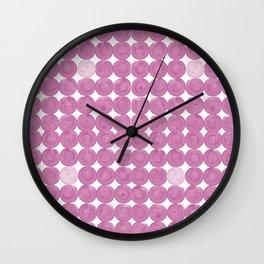 Pinker dot dot pink dot small Wall Clock