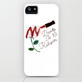 BeautyIsAReligion `Rose Lippy` iPhone Case