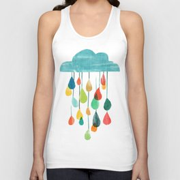 cloudy with a chance of rainbow Unisex Tank Top