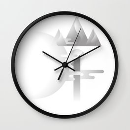 Shore 岸 | Chinese Typography Design with Fusion of Western & Eastern Aesthetic Wall Clock