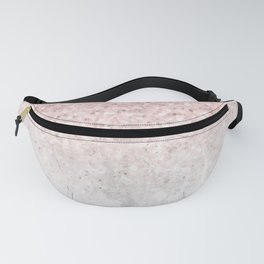 She Sparkles Rose Gold Pink Concrete Luxe Fanny Pack