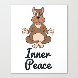 Spread the Love with this Peace of mind Tshirt Design Inner peace Canvas Print