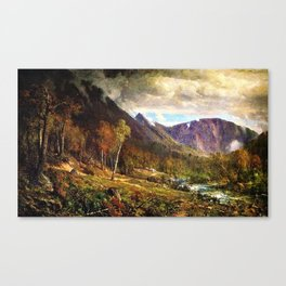Crawford Notch, New Hampshire by Thomas Hill Canvas Print