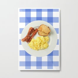 Ron Swanson Breakfast - Poster Print - Funny Kitchen art - FunnyPrint, Home, Art, Wall Art Metal Print