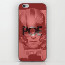 Poe -- Red iPhone Skin