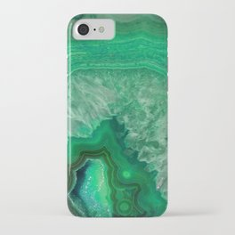 Green Emerald Agate iPhone Case