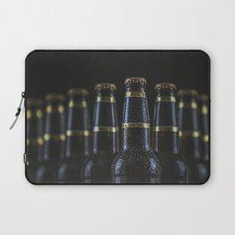 Beer Bottles On Black Laptop Sleeve