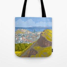 Endinburgh, Salisbury Crags Tote Bag