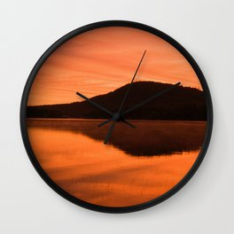 Dawn on Fire: Lac du Saint Sacrement Wall Clock