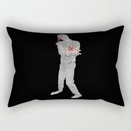 Christmas Zombie Black & White Rectangular Pillow