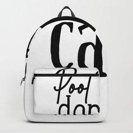 Tote Bag Design Pool Hair Don't Care Pool Bag Beach Bag Backpack