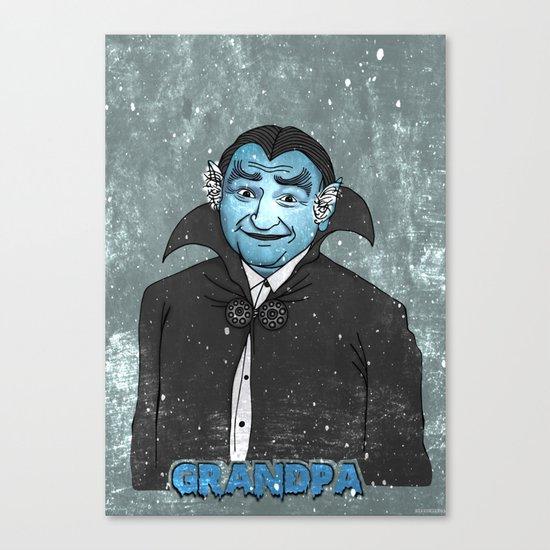Grandpa Munster Canvas Print