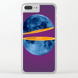 Moon orange slice Clear iPhone Case