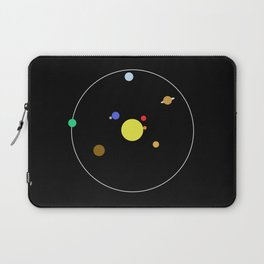 Solar System - Minimalism Abstract Pastel Colours Laptop Sleeve