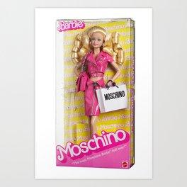 Barbie Moschino Art Print