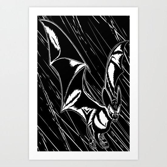 Bat Attack! Art Print