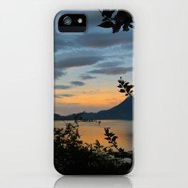 Lago Atitlan at Sunrise iPhone Case