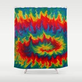 tie die pattern Shower Curtain