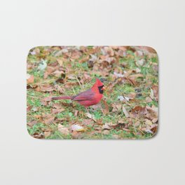 Autumn Leaves Cardinal Bath Mat