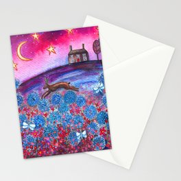 Magenta Skies Stationery Cards