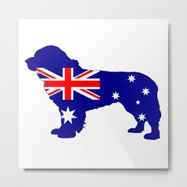 Australian Flag - Newfoundland Dog Metal Print