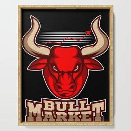 Bull Market Stock Exchange Shares Investor Trader Serving Tray