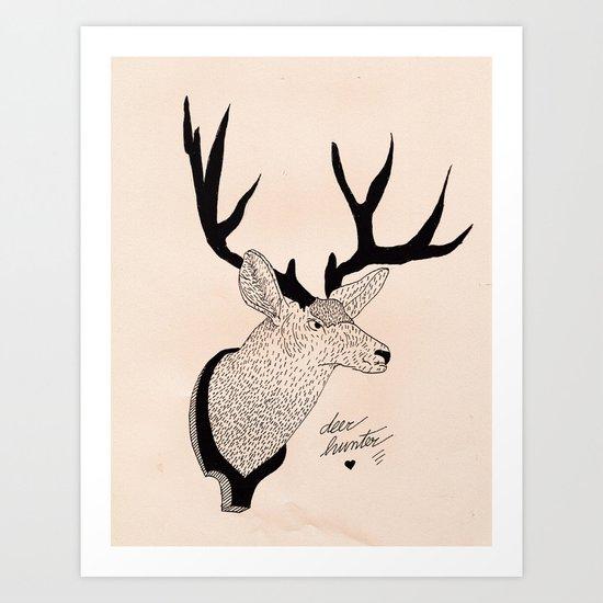 Deerhunter Art Print