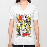 dragons V-neck T-shirts featuring Dragons by Ruthy Sarwal