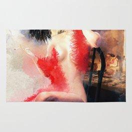Painted Fan Dancer - Dressing Room Neck Massage Rug