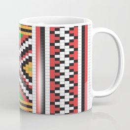 Slavic cross stitch pattern with red green orange black white Coffee Mug
