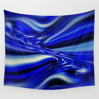 code Wall Tapestries featuring Code Blue by Chris' Landscape Images & Designs