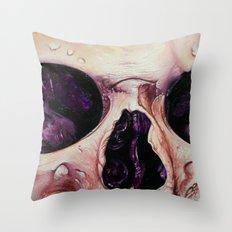 close up skull 3 Throw Pillow