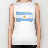 argentina Biker Tanks featuring Argentina Flag by Favio Torres