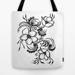 Flowers on the vine Tote Bag