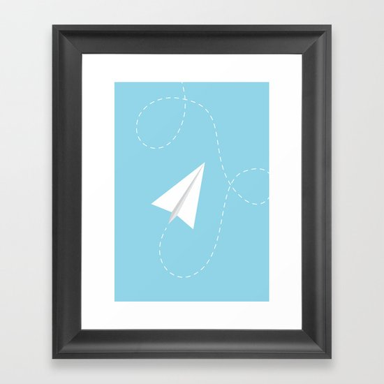 #38 Paperplane Framed Art Print