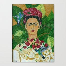 Frida In Heaven Canvas Print