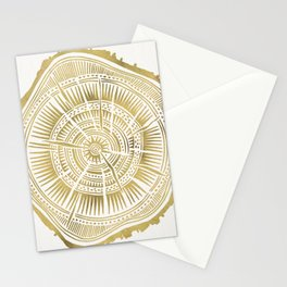 Paper Birch – Gold Tree Rings Stationery Cards