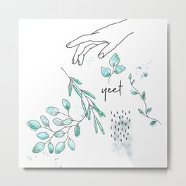 fresh yeet leaves Metal Print