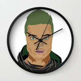 Rami Malek pop art Wall Clock