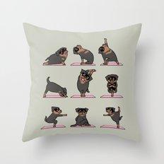 Rottweiler Yoga Throw Pillow