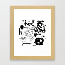 Flipper Framed Art Print